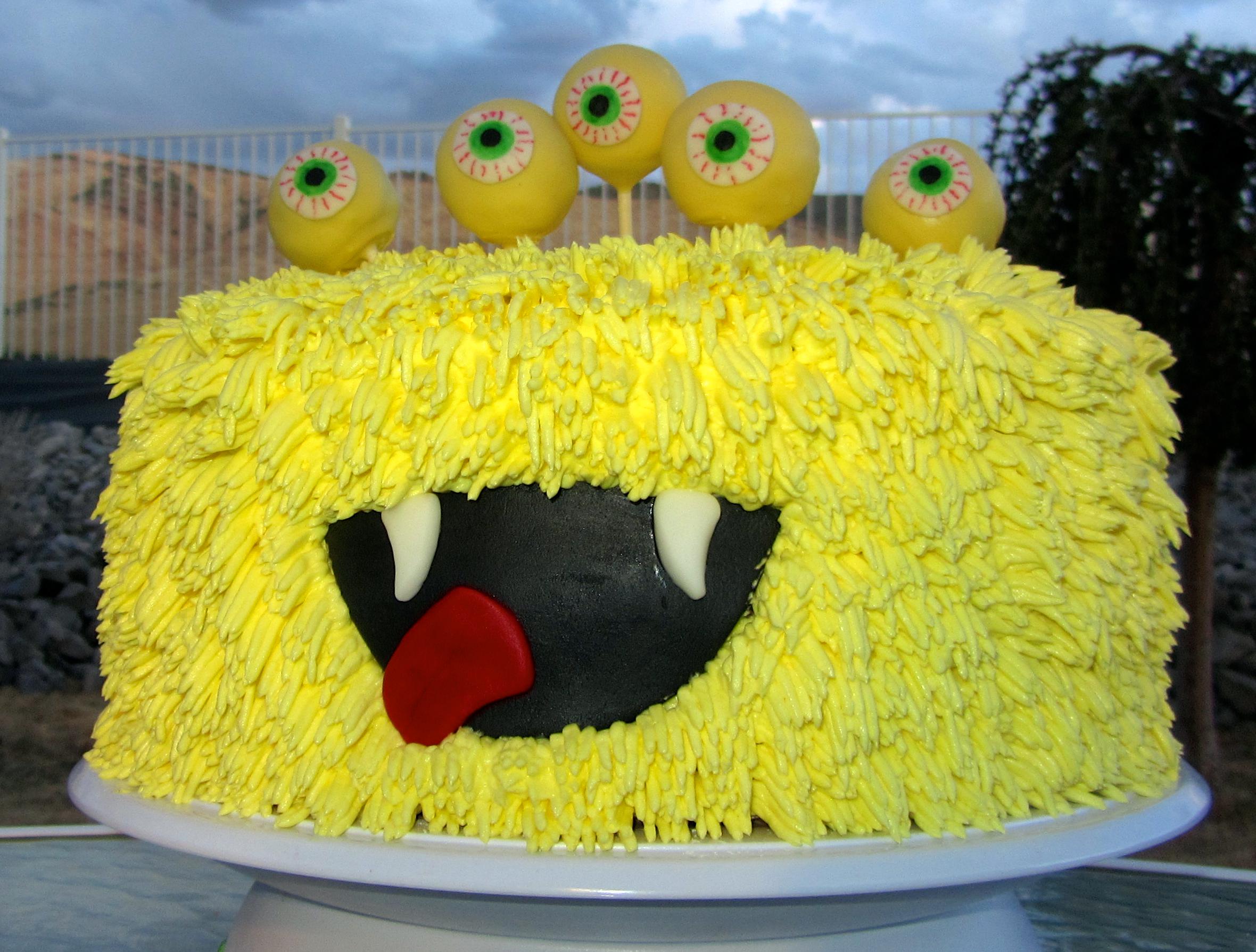 Awe Inspiring Monster Cake Artsyondemand Funny Birthday Cards Online Elaedamsfinfo