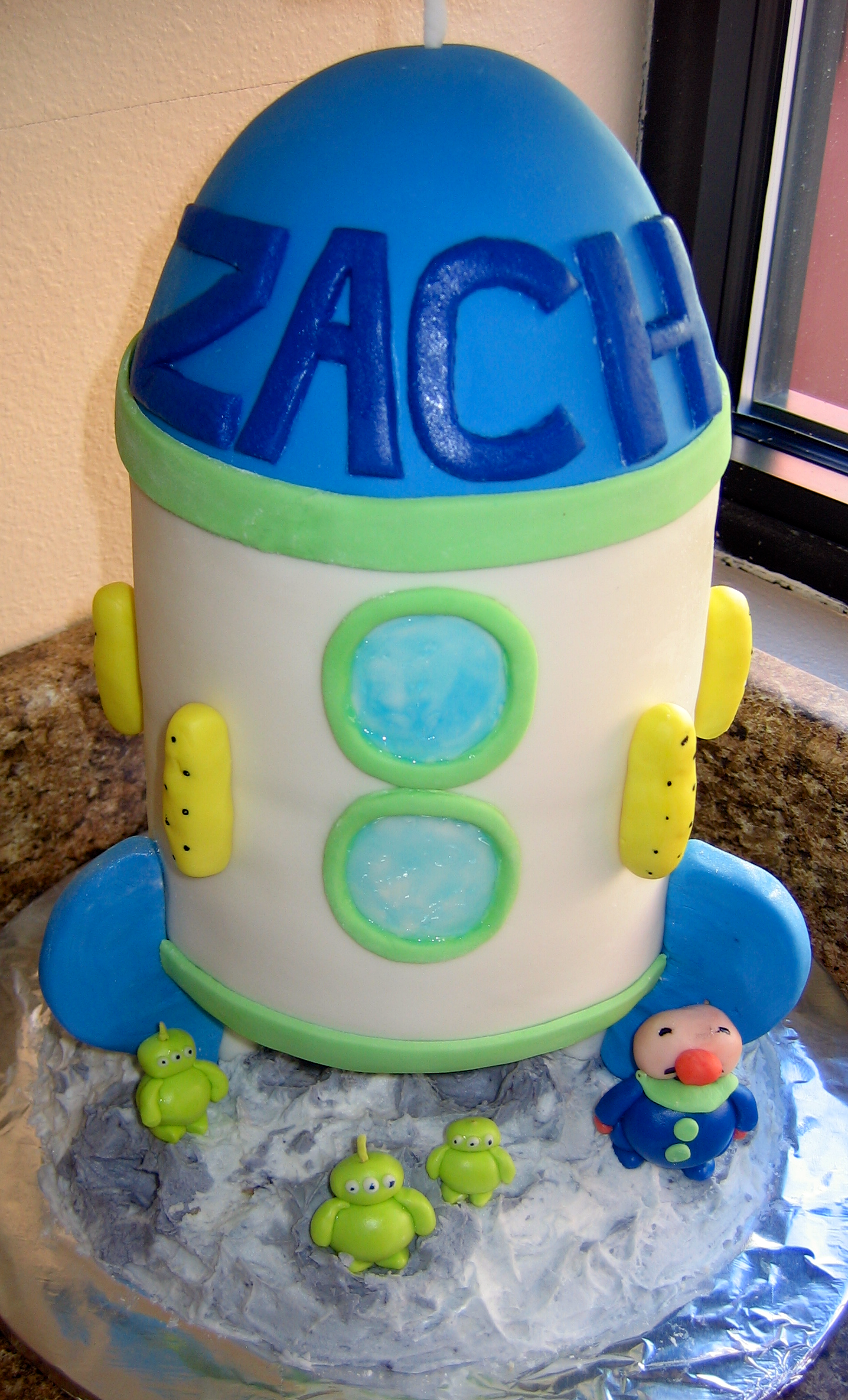 Fabulous Rocket Ship Cake Artsyondemand Funny Birthday Cards Online Overcheapnameinfo