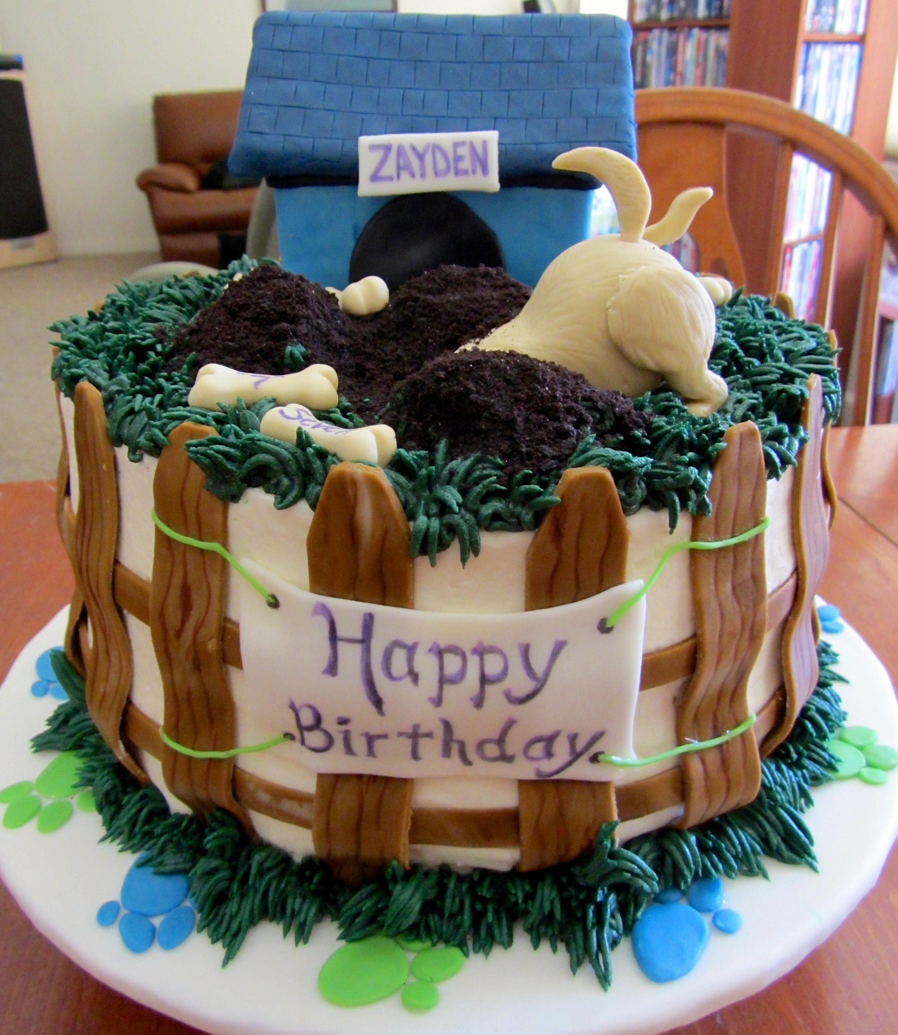 Wondrous Dog Themed Cake Artsyondemand Funny Birthday Cards Online Bapapcheapnameinfo