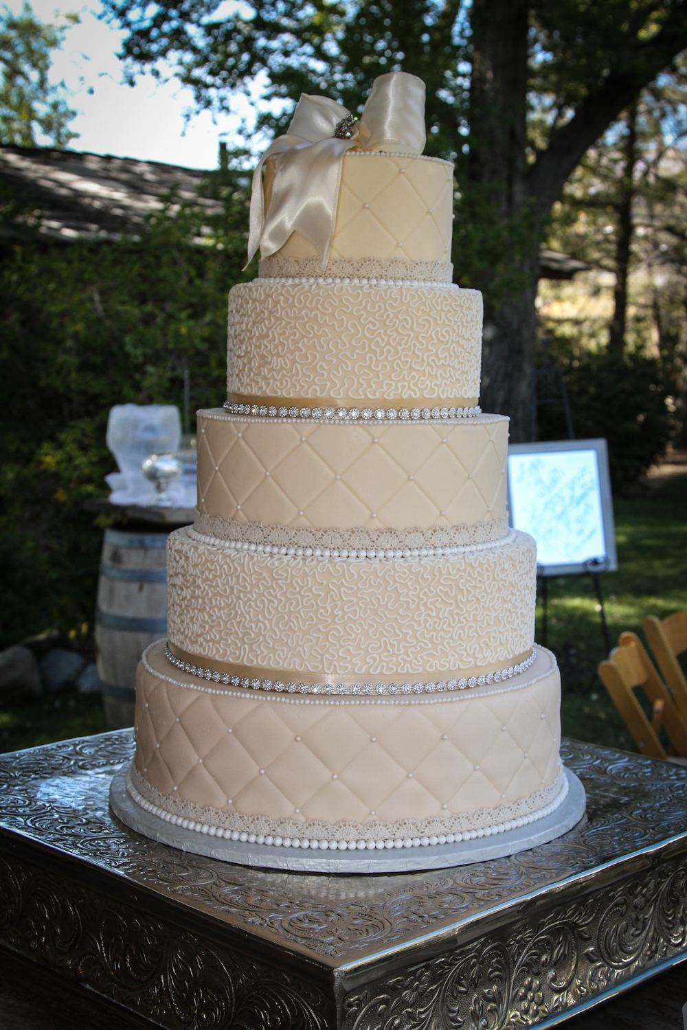 Jessica And Jon Vintage Wedding Cake ArtsyOnDemand